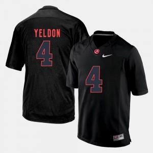 #4 Silhouette College T.J. Yeldon Alabama Jersey For Men's Black 414605-481