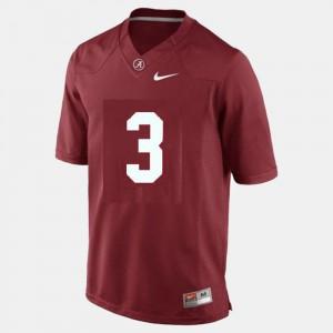 College Football Red #3 Men's Trent Richardson Alabama Jersey 205567-561
