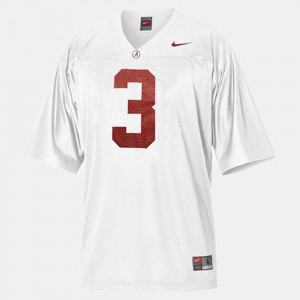 White Men's Trent Richardson Alabama Jersey #3 College Football 682075-307