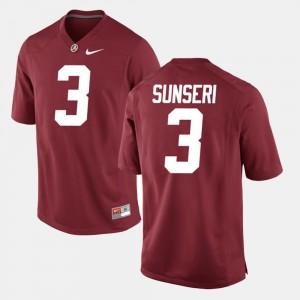 Alumni Football Game Vinnie Sunseri Alabama Jersey Men's #3 Crimson 114923-558