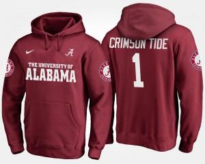Alabama Hoodie No.1 #1 Men Crimson 808181-615