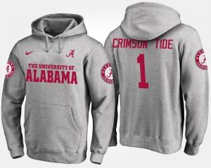 No.1 Gray Mens #1 Alabama Hoodie 966091-537