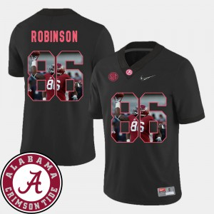 A'Shawn Robinson Alabama Jersey Black Pictorial Fashion #86 Men's Football 468396-111