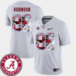 Pictorial Fashion Men's #86 Football White A'Shawn Robinson Alabama Jersey 353412-702