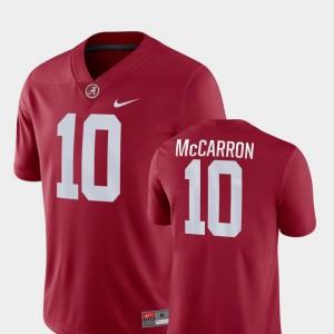 AJ McCarron Alabama Jersey #10 For Men's Crimson College Football Game 388266-966