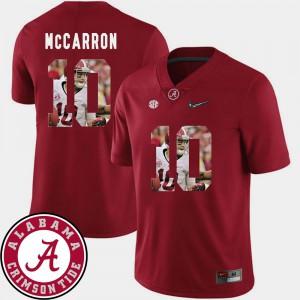 Crimson Pictorial Fashion AJ McCarron Alabama Jersey For Men's Football #10 262911-122