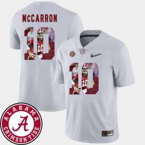 #10 Football AJ McCarron Alabama Jersey Pictorial Fashion White For Men's 274599-275