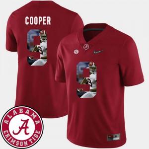 #9 Pictorial Fashion Amari Cooper Alabama Jersey Mens Crimson Football 927833-465