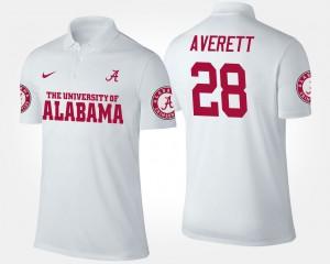 Mens #28 Anthony Averett Alabama Polo White 308336-940