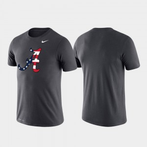 Performance Alabama T-Shirt For Men Americana Legend Anthracite 763938-320
