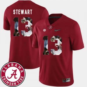 #13 Men's Pictorial Fashion Crimson Football ArDarius Stewart Alabama Jersey 191388-171