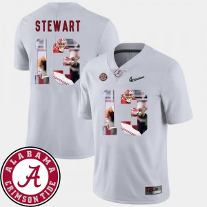 Pictorial Fashion #13 White Football Men's ArDarius Stewart Alabama Jersey 190006-408