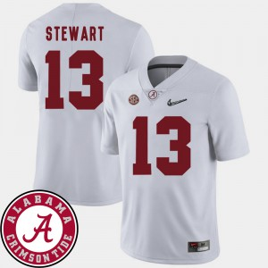 White College Football Men 2018 SEC Patch ArDarius Stewart Alabama Jersey #13 950629-490