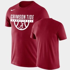 Mens Performance Basketball Drop Legend Alabama T-Shirt Crimson 895302-158