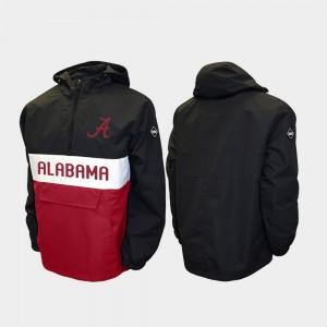 Alpha Anorak Pullover Alabama Jacket Black Half-Zip Mens 115233-574