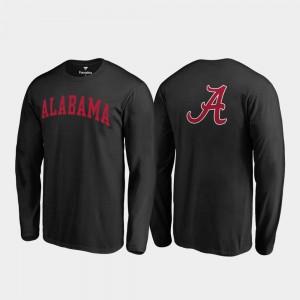 Long Sleeve Men's Alabama T-Shirt Black Primetime 831756-417