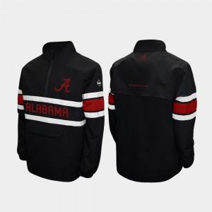 Alpha Windshell Pullover Black For Men's Alabama Jacket Quarter-Zip 315054-374