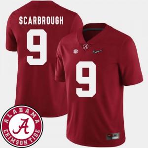 Bo Scarbrough Alabama Jersey Men College Football 2018 SEC Patch #9 Crimson 284840-432
