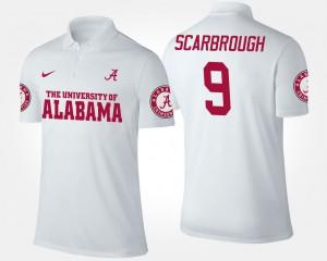 For Men's White Bo Scarbrough Alabama Polo #9 656739-300
