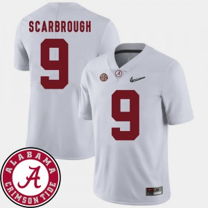 Bo Scarbrough Alabama Jersey 2018 SEC Patch For Men's College Football White #9 688098-653