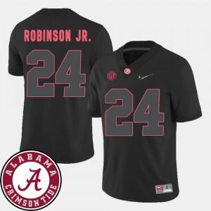 Black For Men's Brian Robinson Jr. Alabama Jersey #24 2018 SEC Patch College Football 423992-595
