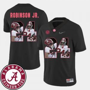 For Men Black Football Pictorial Fashion #24 Brian Robinson Jr. Alabama Jersey 340090-329