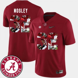#32 Crimson Pictorial Fashion C.J. Mosley Alabama Jersey Football For Men 764800-955