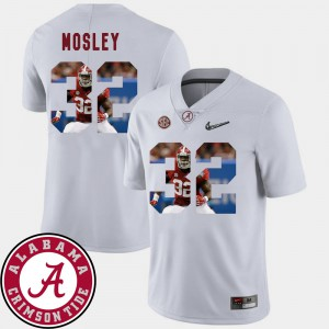 Pictorial Fashion C.J. Mosley Alabama Jersey Football White #32 Mens 440641-928