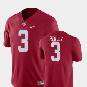 #3 College Football Mens Calvin Ridley Alabama Jersey Crimson Game 456064-915