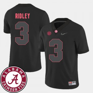 Black 2018 SEC Patch For Men Calvin Ridley Alabama Jersey College Football #3 333858-220