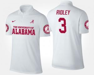 #3 For Men's Calvin Ridley Alabama Polo White 419707-556