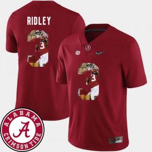 Football Men Calvin Ridley Alabama Jersey Crimson #3 Pictorial Fashion 671148-154