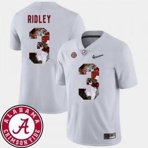 White Football Calvin Ridley Alabama Jersey #3 Pictorial Fashion Men 241255-870