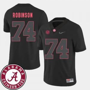 College Football Black #74 Cam Robinson Alabama Jersey 2018 SEC Patch Men's 414862-129