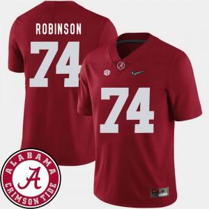College Football 2018 SEC Patch Cam Robinson Alabama Jersey Crimson #74 Men 933343-547
