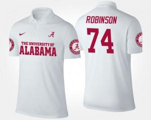 #74 White Men's Cam Robinson Alabama Polo 407914-596