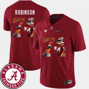 Pictorial Fashion Cam Robinson Alabama Jersey Crimson #74 Football For Men's 627380-394