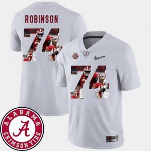 #74 White Pictorial Fashion Cam Robinson Alabama Jersey Football Men's 745494-419