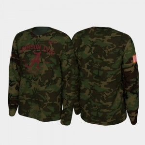 Men 2019 Veterans Day Camo Alabama T-Shirt Legend Long Sleeve 806943-161
