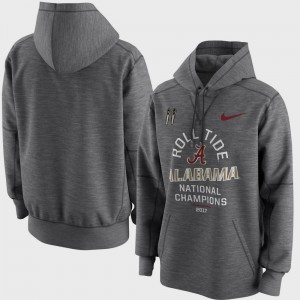 For Men Charcoal Bowl Game College Football Playoff 2017 National Champions Celebration Victory Alabama Hoodie 663867-818