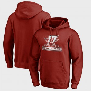 Mens Alabama Hoodie Crimson Bowl Game College Football Playoff 2017 National Champions Official 646624-995