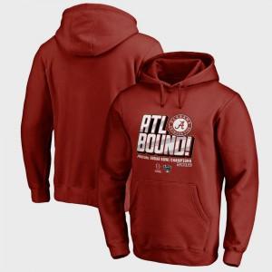 Crimson Alabama Hoodie For Men's College Football Playoff 2018 Sugar Bowl Champions Flea Flicker Bowl Game 206564-142