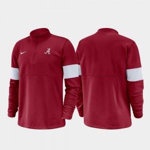 Crimson Alabama Jacket Half-Zip Performance 2019 Coaches Sideline Mens 481375-859