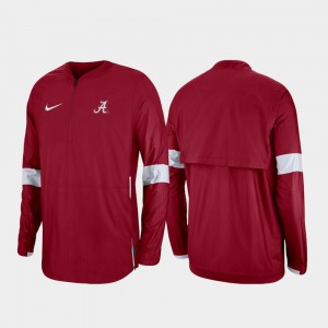 Alabama Jacket 2019 Coaches Sideline Men Quarter-Zip Crimson 429485-760