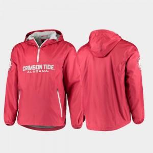 Crimson Alabama Jacket Base Runner For Men Half-Zip 774766-205