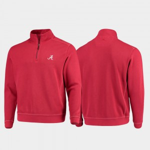 For Men Crimson College Sport Nassau Half-Zip Pullover Tommy Bahama Alabama Jacket 269861-191