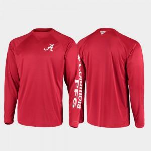 Alabama T-Shirt For Men's Omni-Shade Crimson PFG Terminal Tackle Long Sleeve 739080-583