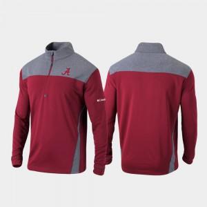 Crimson Alabama Jacket Omni-Wick Standard Men Quarter-Zip Pullover 715870-182
