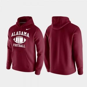 Crimson Retro Football Mens Club Fleece Alabama Hoodie 735290-351
