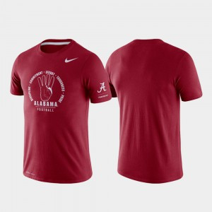 For Men Rivalry Crimson Alabama T-Shirt Tri-Blend Performance 636421-687